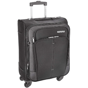 American Tourist Trolley Crete Polyester 55 cm Black Softsided Carry On (49W (0) 09 001)