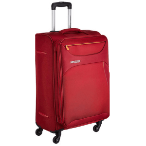 American Tourist Trolley Z-strike Polyester 79 cms Ruby Red Softsided Check-in Luggage (AMT Z-STRIKE SP79CM RUBY RED)