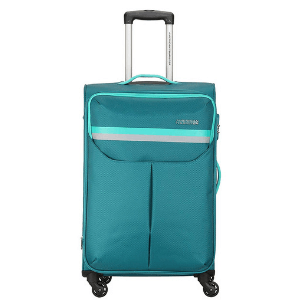 American Tourist Trolley Detroit Polyester 57 cms Teal Softsided Cabin Luggage (FK0 (0) 11 001)