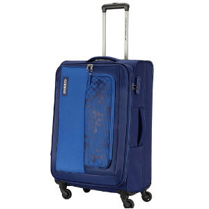 American Tourist Trolley Montana Polyester 81 cms Blue Softsided Check-in Luggage (FM0 (0) 01 003)